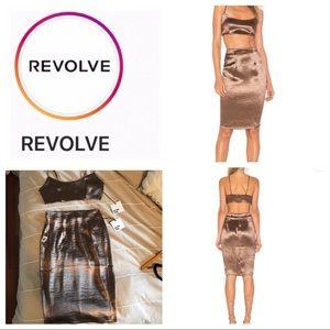 Revolve Satin Skirt Set